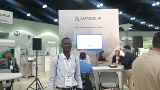 A pose outside Autodesk Education session on energy modelling