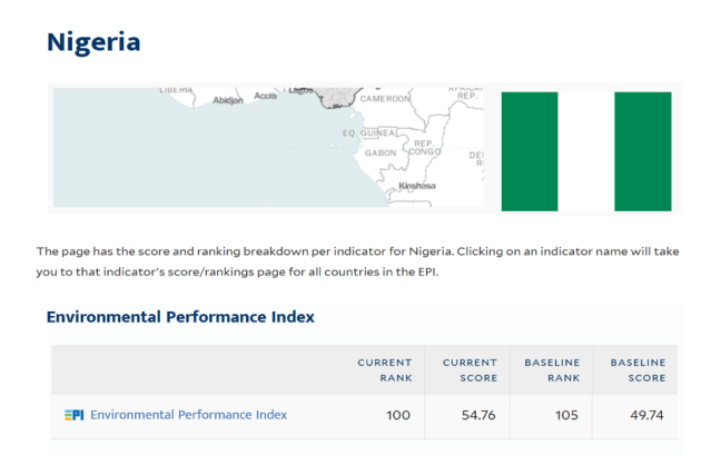 Nigeria 2018 Environmental Performance Index Ranking and the Way to ... 3df61935b4